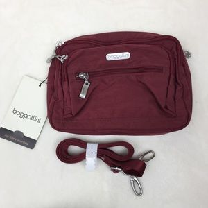 Baggallini Triple Zip Crossbody Belt Bag NWT